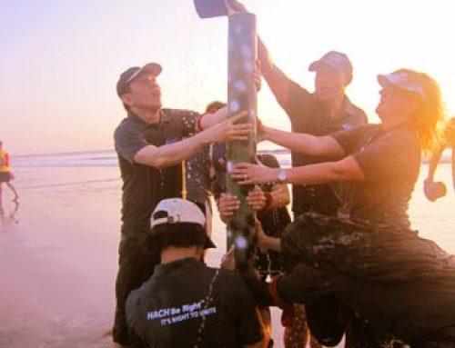 Chainreaction op het strand